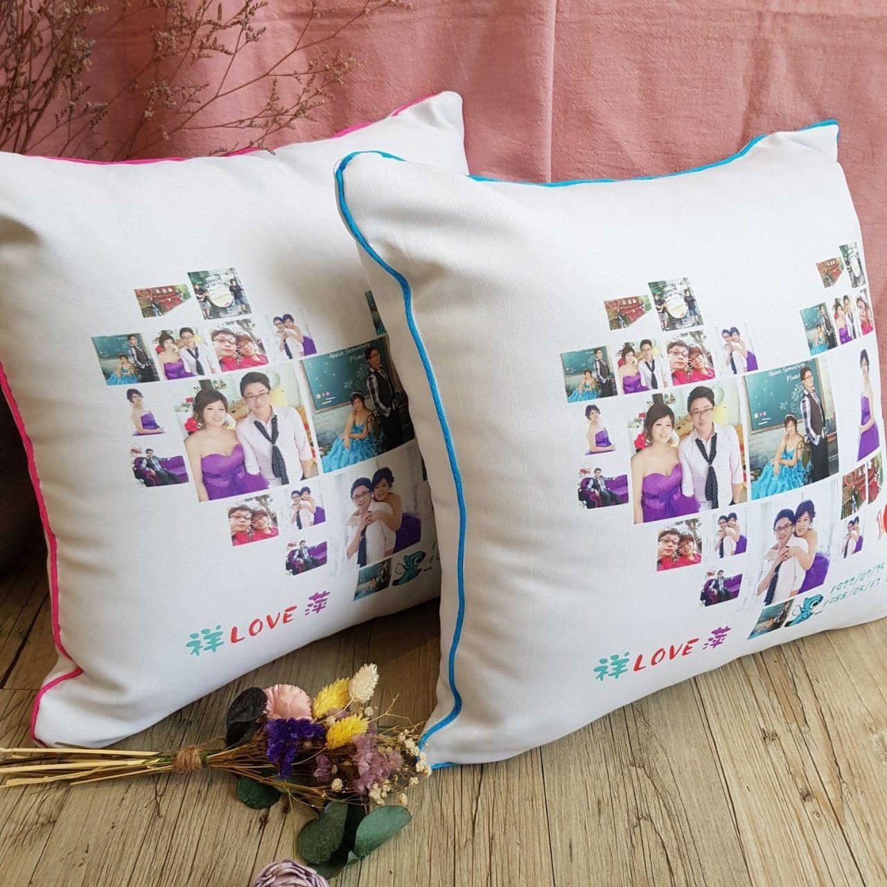 轉印抱枕組 結婚禮物抱枕